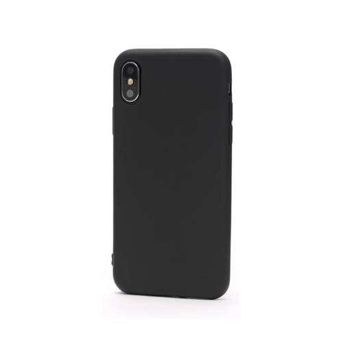 iPhone X must silikoonist ümbris logo auguga ilma logo auguta