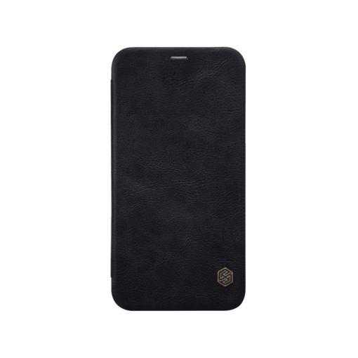 iPhone X ümbris kaaned Nillkinn Qin nahk leather must 1