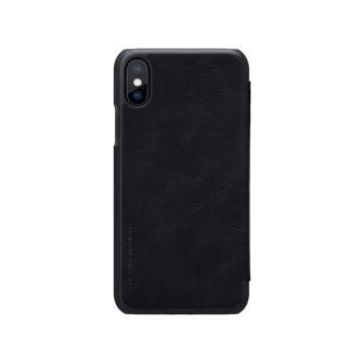 iPhone X ümbris kaaned Nillkinn Qin nahk leather must 2