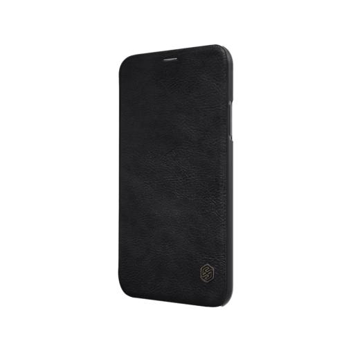 iPhone X ümbris kaaned Nillkinn Qin nahk leather must 3