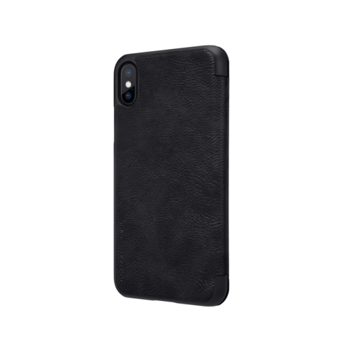 iPhone X ümbris kaaned Nillkinn Qin nahk leather must 4