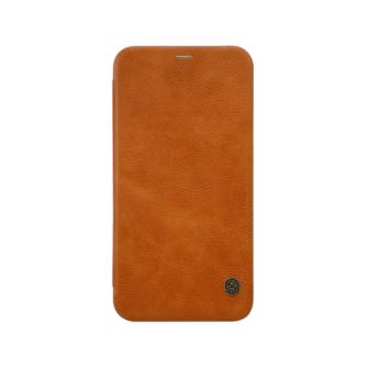 iPhone X ümbris kaaned Nillkinn Qin nahk leather pruun 1