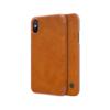 iPhone X ümbris kaaned Nillkinn Qin nahk leather pruun
