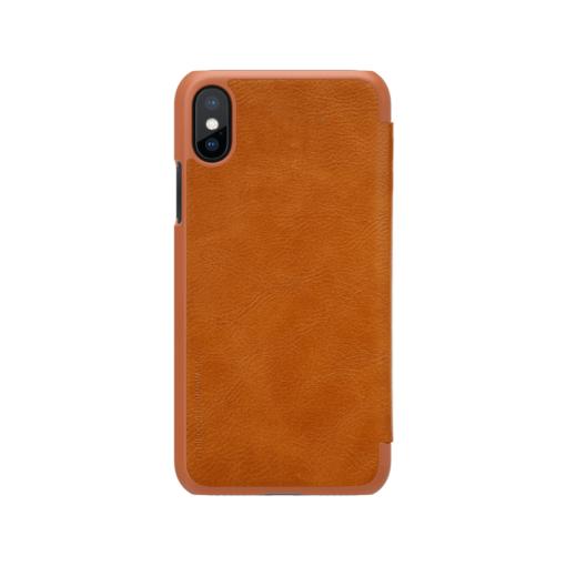 iPhone X ümbris kaaned Nillkinn Qin nahk leather pruun 2