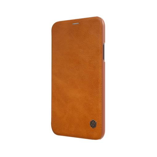 iPhone X ümbris kaaned Nillkinn Qin nahk leather pruun 3