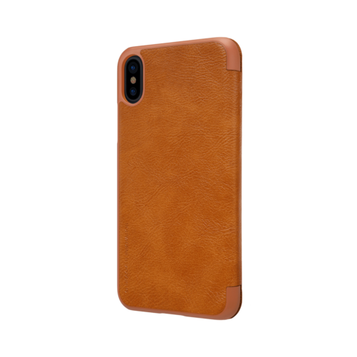 iPhone X ümbris kaaned Nillkinn Qin nahk leather pruun 4