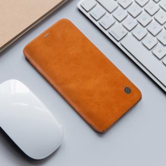 iPhone X ümbris kaaned Nillkinn Qin nahk leather pruun 6