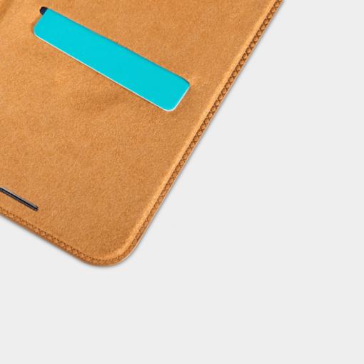iPhone X ümbris kaaned Nillkinn Qin nahk leather pruun 7