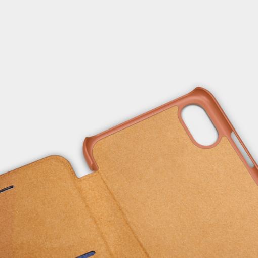 iPhone X ümbris kaaned Nillkinn Qin nahk leather pruun 8