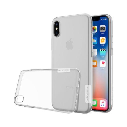 iPhone X ümbris nillkin labipaistev silikoonist 1