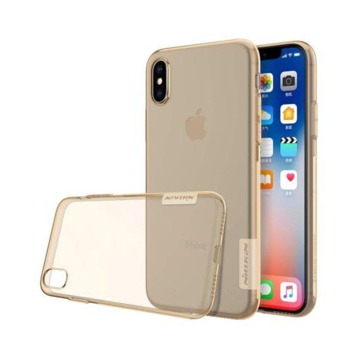 iPhone X ümbris nillkin pruun silikoonist 1