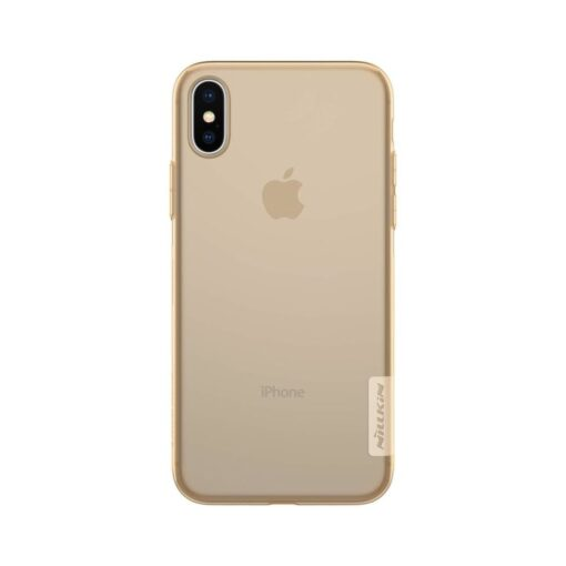 iPhone X ümbris nillkin pruun silikoonist 2