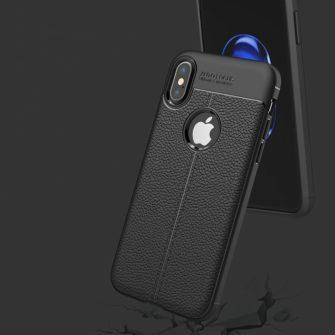 iPhone X must silikoonist korpus 3 min