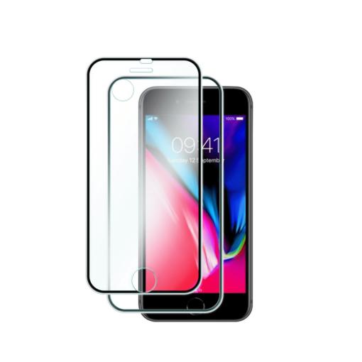 iPhone 7 8 kaitseklaas esimene ja tagumine must
