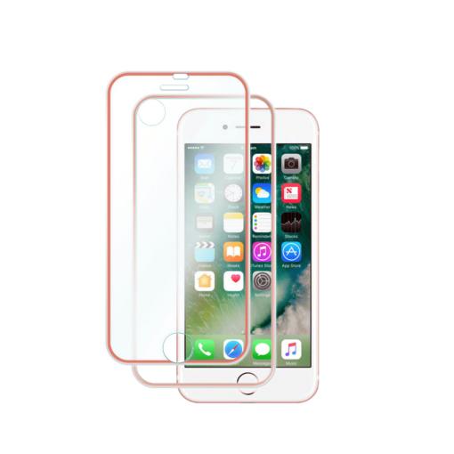 iPhone 7 8 kaitseklaas esimene ja tagumine roosa