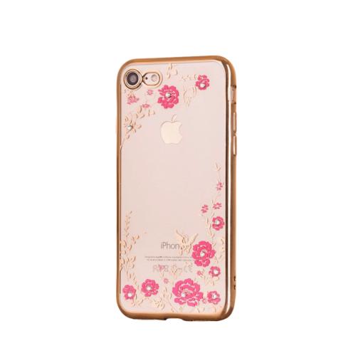iphone 7 8 ümbris lilledega roosa