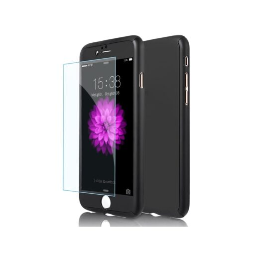 iPhone 6s 360 korpus ümbris must ilma auguta