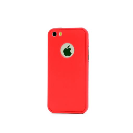 iphone 5 5s se 360 silikoonist ümbris punane 1 min