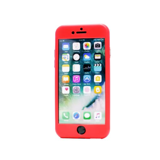 iphone 8 360 silikoonist ümbris punane min