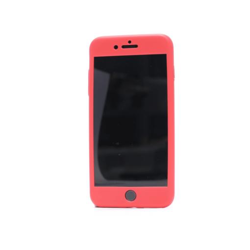 iphone 8 plus 360 silikoonist ümbris punane1