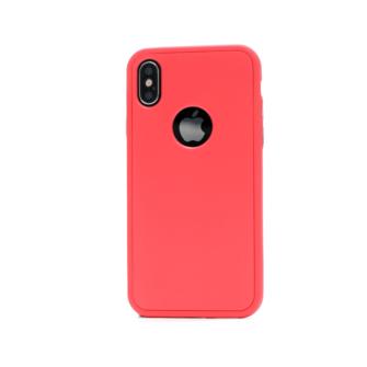 iphone xs 360 silikoonist ümbris punane 1