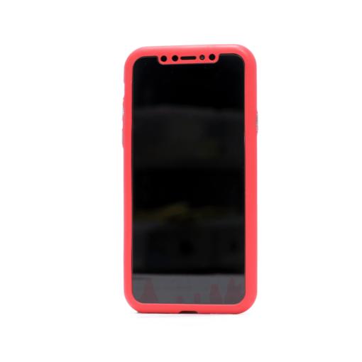 iphone xs 360 silikoonist ümbris punane