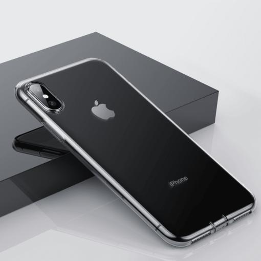 iphone xs max silikoonist ümbris läbipaistev 3
