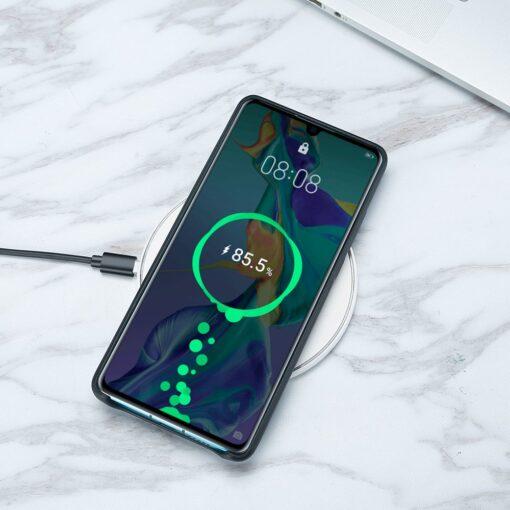 Huawei P30 Lite ümbris nahast must 7