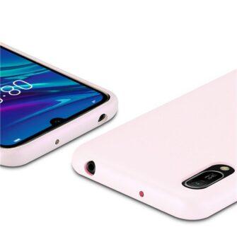 Huawei Y6 2019 roosa nahast ümbris 2