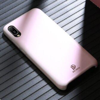 Huawei Y6 2019 roosa nahast ümbris 4