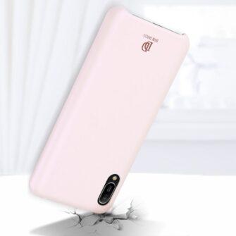 Huawei Y6 2019 roosa nahast ümbris 5