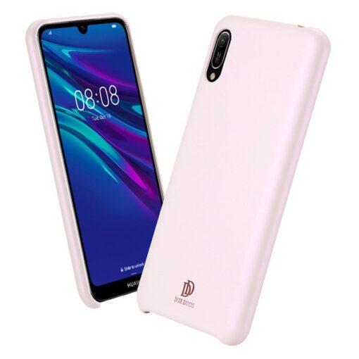 Huawei Y6 2019 roosa nahast ümbris 6