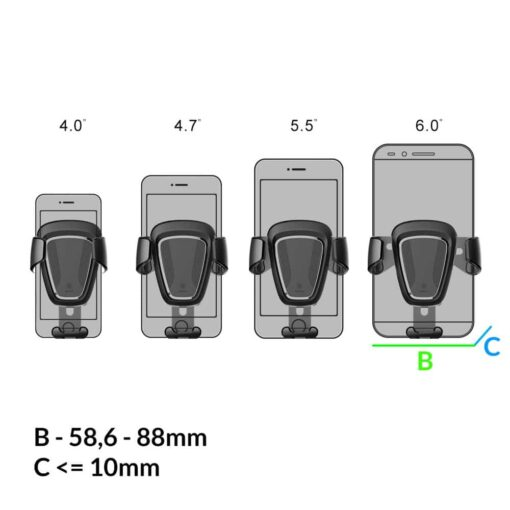 Telefonihoidik autosse autohoidik telefonile gravitatsiooniga 35011076