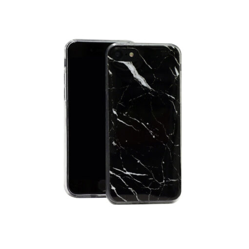 iPhone 7 Plus iPhone 8 Plus ümbris marmor must