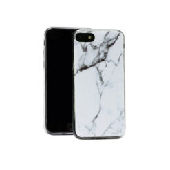 iPhone 7 Plus iPhone 8 Plus ümbris marmor valge