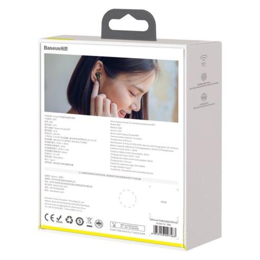 Juhtmevabad kõrvaklapid musta värvi Baseus 1