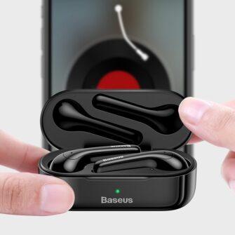 Juhtmevabad kõrvaklapid musta värvi Baseus 12