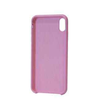 iPhone XS Max silikoonist ümbris roosa tagant