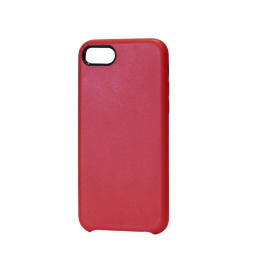 iPhone 8 Plus kaaned ja iPhone 7 Plus kaaned kunstnahast punane