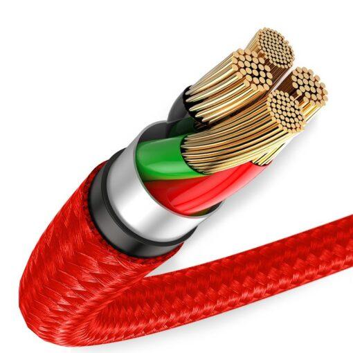 iPhone laadija kaabel punane 1m 1