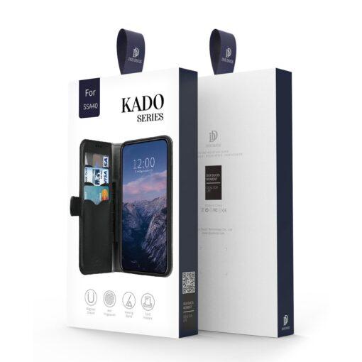 Samsung A40 kolme kaarditaskuga nahast kaaned musta värvi 1