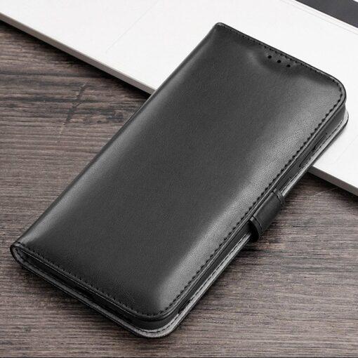 Samsung A40 kolme kaarditaskuga nahast kaaned musta värvi 16