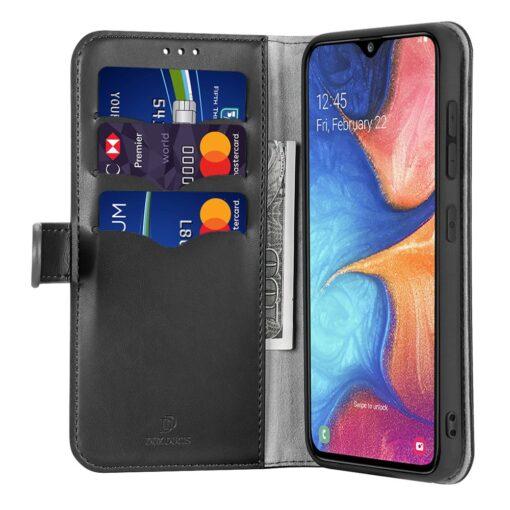 Samsung A40 kolme kaarditaskuga nahast kaaned musta värvi 3