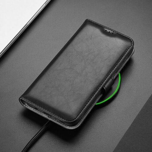 Samsung A40 kolme kaarditaskuga nahast kaaned musta värvi 7