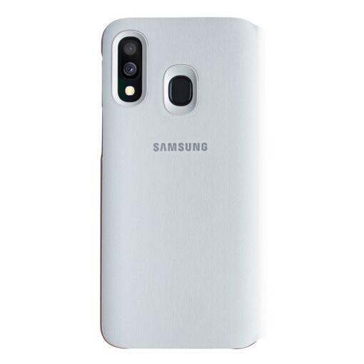 Samsung A40 wallet kaaned valge EF-WA405PWEGWW