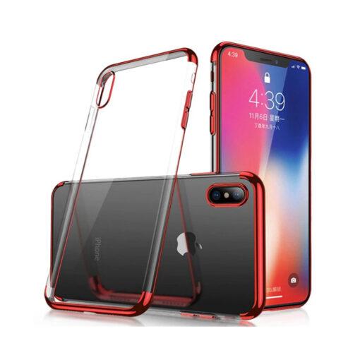 Samsung A50 läikivate servadega läbipaistvast silikoonist ümbris punane