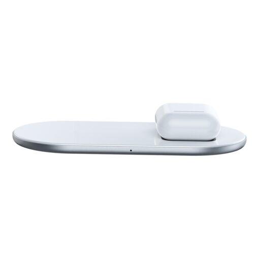 airpods juhtmevaba laadija qi laadimisalus valge 1