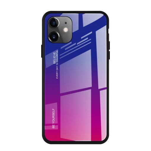 iPhone 11 ümbris gradient lilla roosa