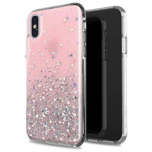 iPhone 11 ümbris sädelev tähtedega silikoonist must