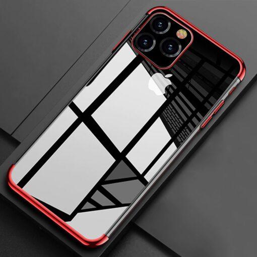 iPhone 11 ümbris silikoonist punaste läikivate servadega 10